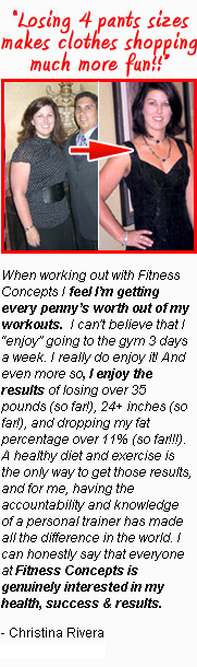Christina Rivera Personal Training Result